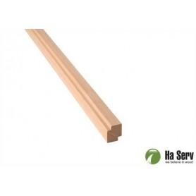 Trälister för bastu   15x18 Hörn/Taklist i al. Längd: 2,4 m