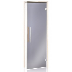 Bastudörr BeneLux med magnetlist 7x20 Grått glas aspkarm 3790 - 1