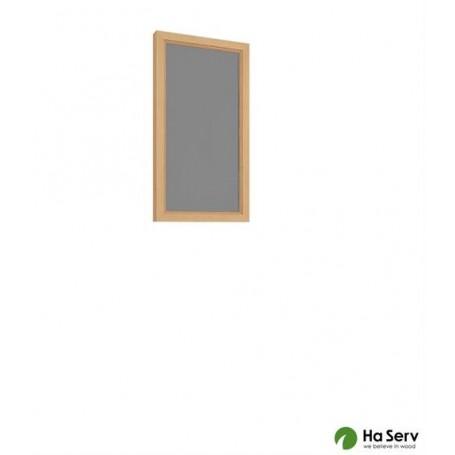 Rökgrått fönster med asp-karm