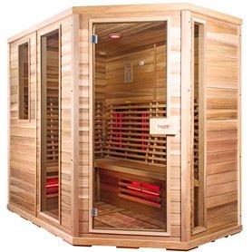 Sauna Relax Lux-höger av cederträ